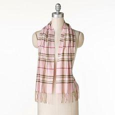 Croft & Barrow plaid scarf