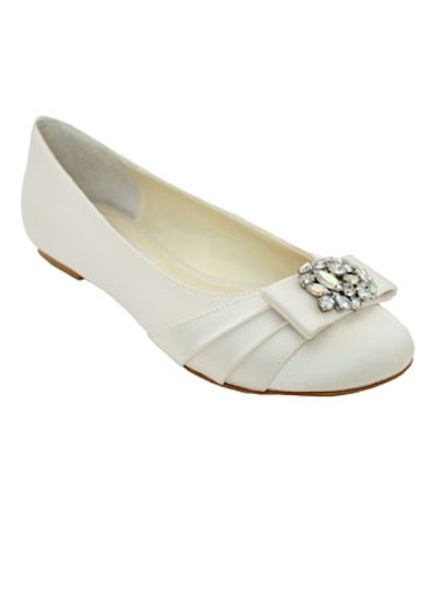 Pleated rhinestone flat