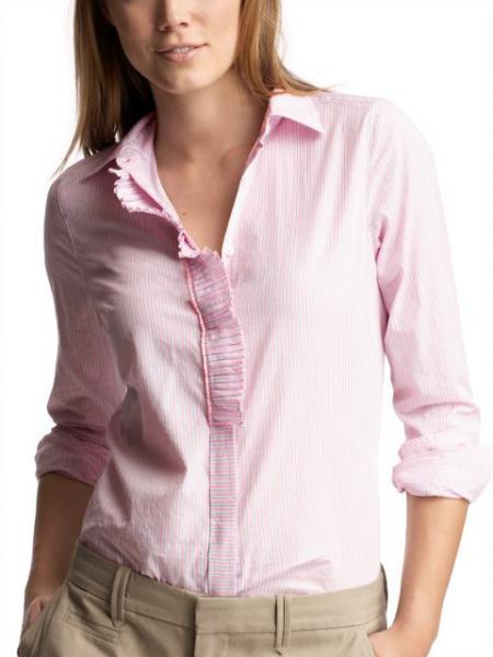 Pleated placket shirt