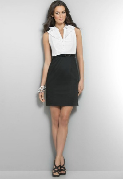 Shealth Top Pencil Skirt Dress