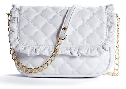 White Quilted Shoulder Bag 102