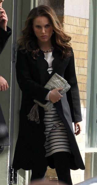 Natalie Portman in stripes