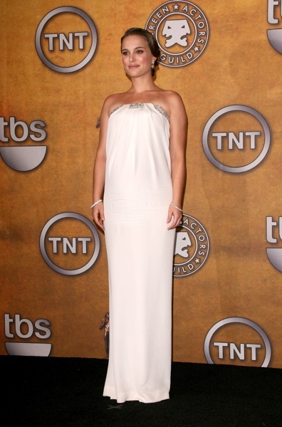 Natalie Portman in a Grecian gown