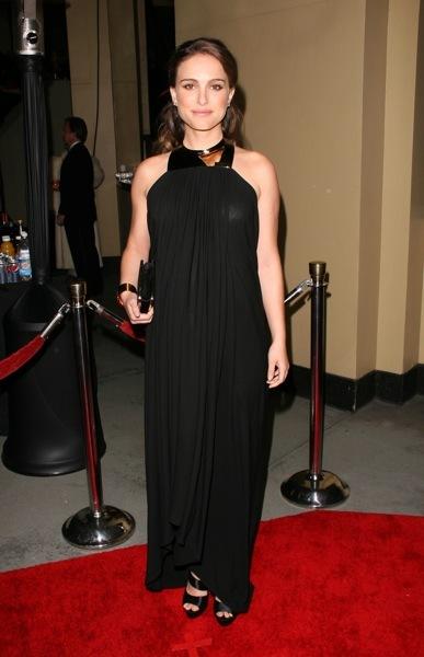 Natalie Portman in black
