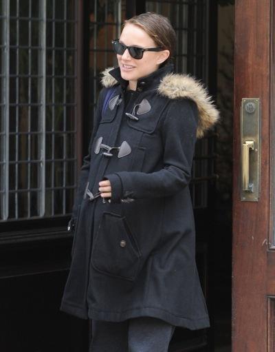 Natalie Portman in fur trim