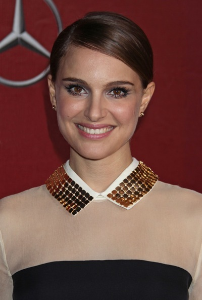Natalie Portman with a studded collar