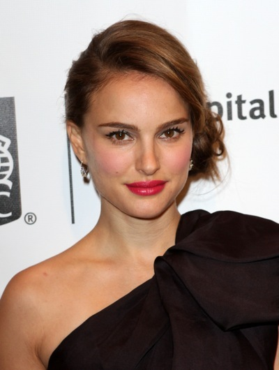 Natalie Portman with a side bun
