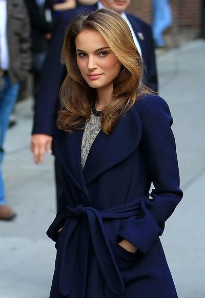 Natalie Portman's layered hairstyle