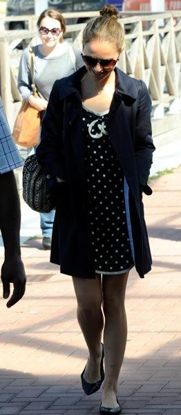 Natalie Portman in polka dots