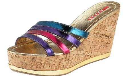 Prada Cork Wedge Slides