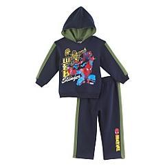 2-Piece Spiderman Solid Fleece Hoodie & Pants Set