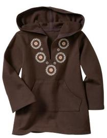 Embroidered Hoodie Tunic