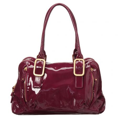 Presa 'Mayfair' Patent Leather Shoulder Bag