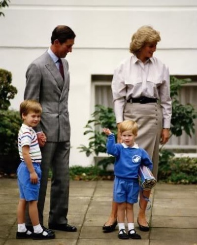 Princess Diana & Prince Charles with Kids