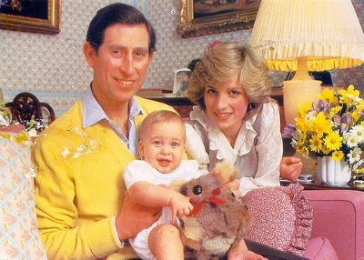 Princess Diana & Prince Charles with Baby Prince William