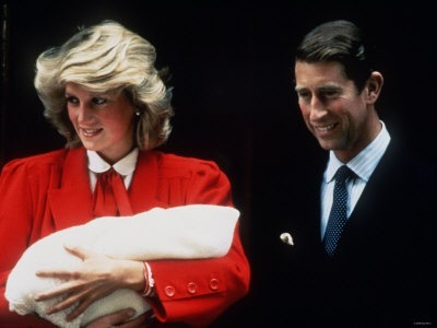 Princess Diana & Prince Charles with Baby Prince Harry