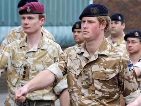 Prince Harry Marching