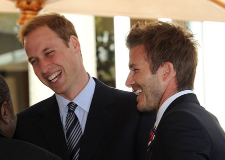 Prince William & David Beckham