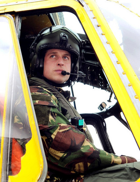 Prince William at Holyhead Mountain