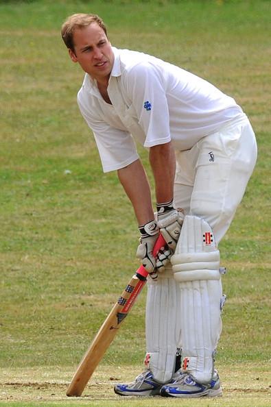 Prince William Plays Cricket