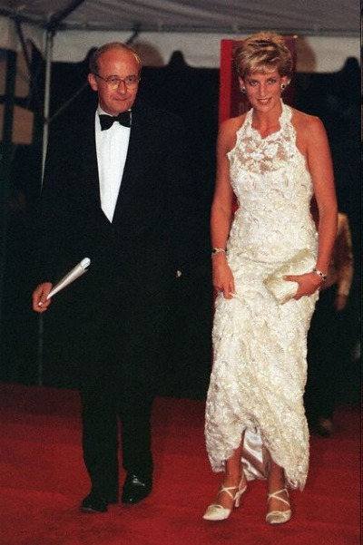 Princess Diana in White Lace