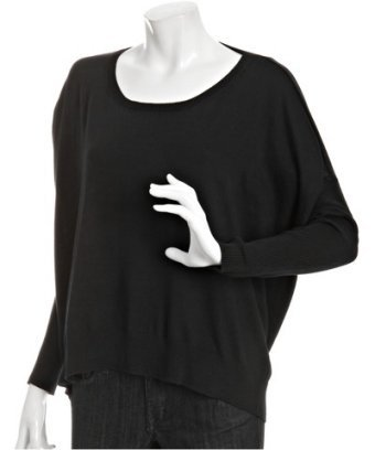 BCBGeneration black cotton dolman sleeve sweater