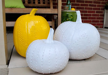 Puffy-paint pumpkins