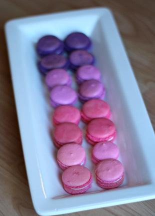 Purple ombre macarons