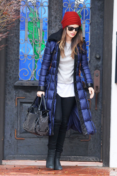 Rachel Bilson looks warm and chic
