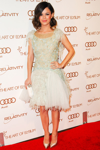 Rachel Bilson at an art gala