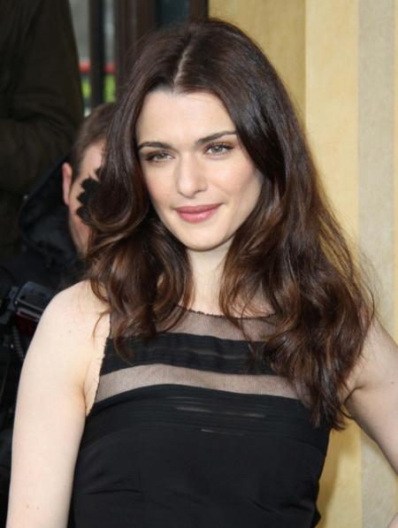 Rachel Weisz's long layered hairstyle