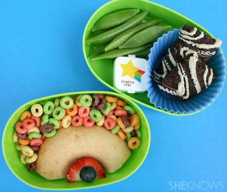 Rainbow bento box lunch