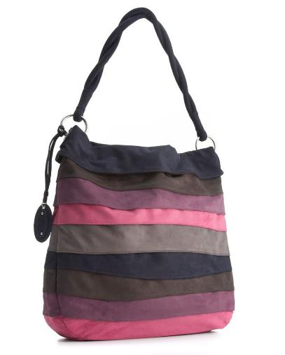 Rainbow Suede Hobo Bag