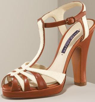 Ralph Lauren Two-Tone Runway Sandals