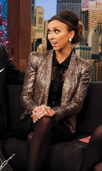 Giuliana Rancic in sequined jacket