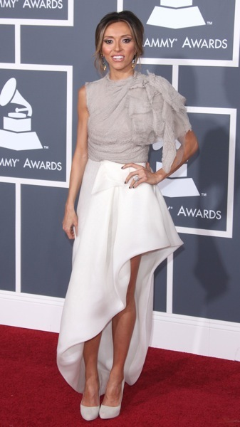 Giuliana Rancic in a bi-level hem
