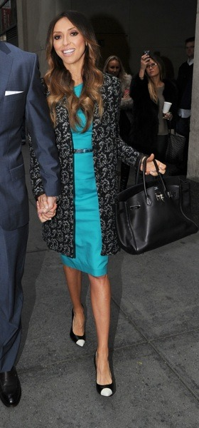 Giuliana Rancic in bright teal