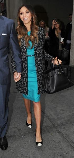 Giuliana Rancic in bright teal