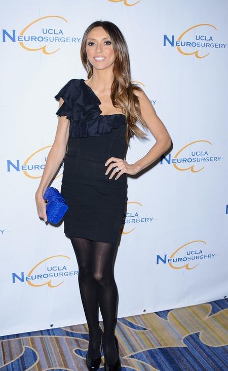 Giuliana Rancic in a one shoulder dress