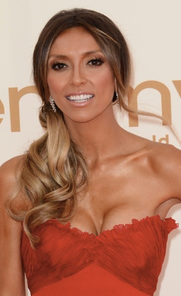 Giuliana Rancic in a side ponytail
