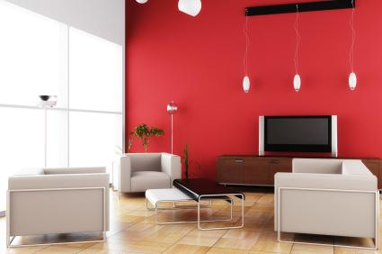 Red Accent Wall Custom With Red Accent Wall Ideas Photos