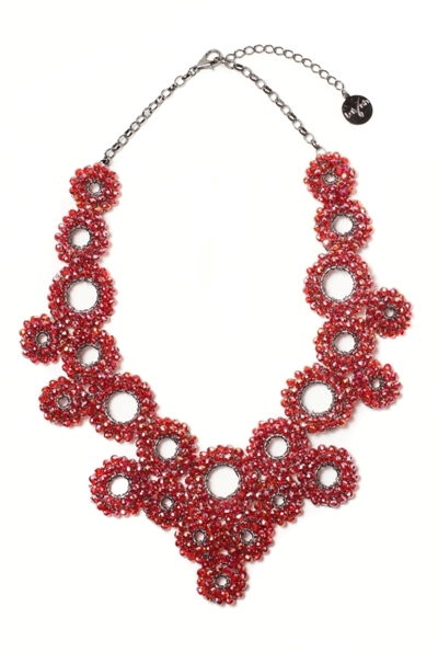 Multicircles Crystals Necklace