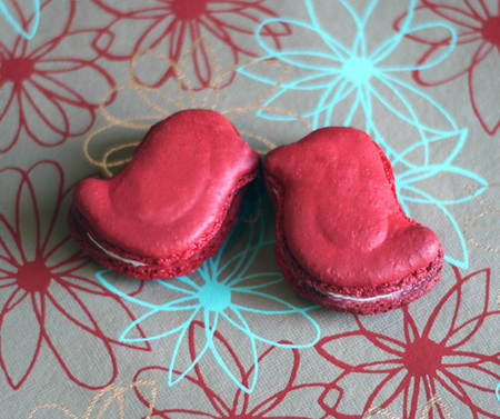 Red bird macarons