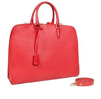 Red Leather Briefcase