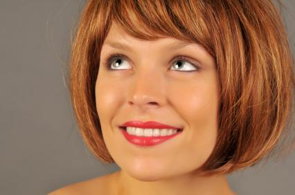 Dark Hair With Red And Blonde Highlights. with londe highlights and
