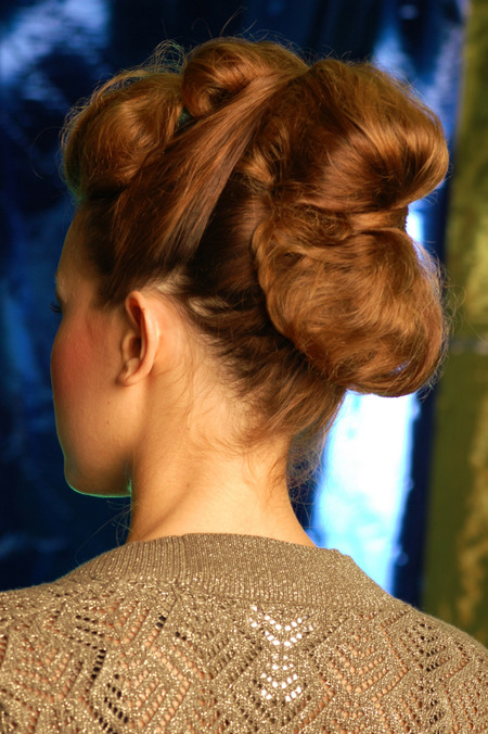 Multiple bun updo