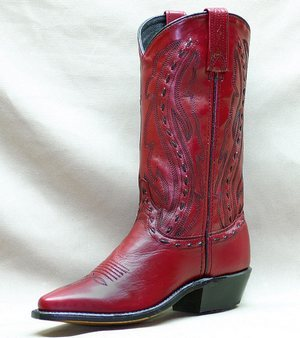 Abilene Women's Pull On Western Boots - Red/Maroon