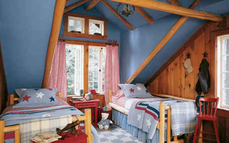 Red, white &amp;amp; blue - Boy&#039;s bedroom