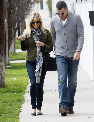 Reese Witherspoon and her hubby Jim Toth out in LA
