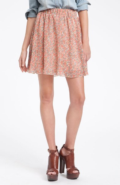 Ditsy Print Chiffon Skirt